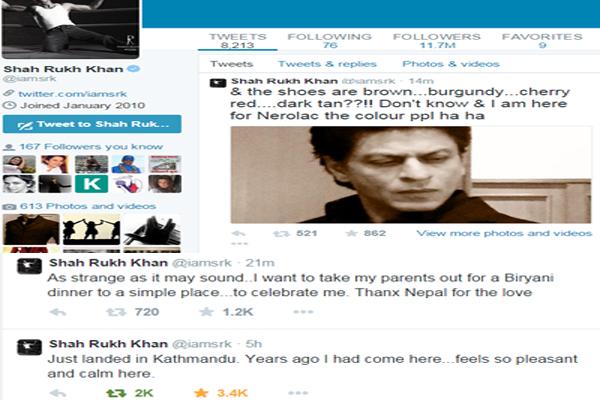 shahrukh khan tweet