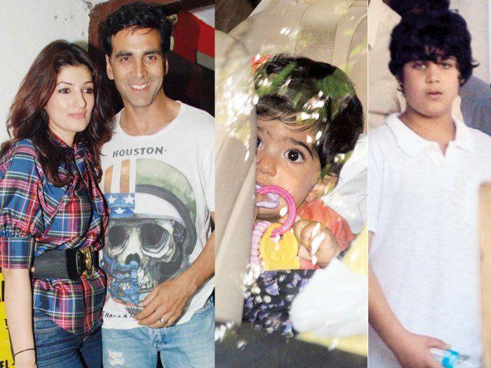 Akshay-with-wife-Twinkle-Khannason-Aarav-Bhatia-daughter-Nitara-Khanna-Bhatia
